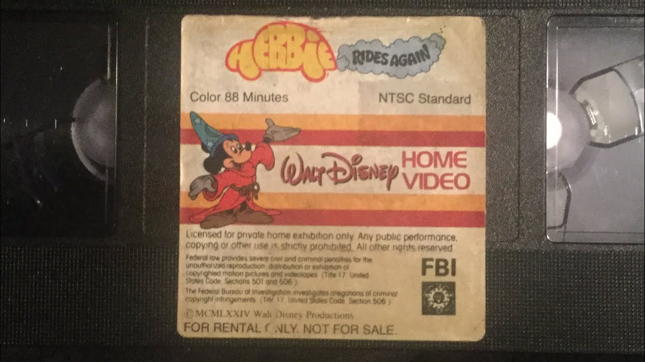 Opening to Herbie Rides Again 1981 Rental VHS [True HQ ...