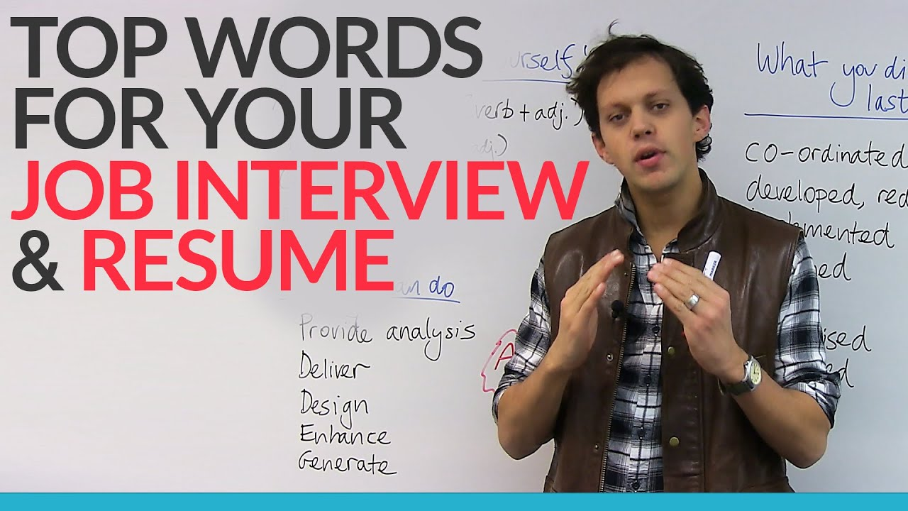 top words for your job interview  u0026 resume