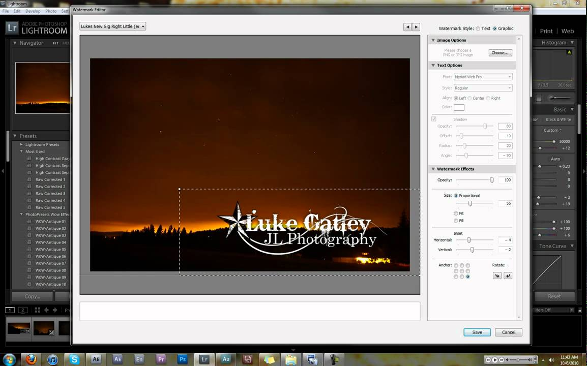 How To Add Watermark In Lightroom >> How to Add Signatures in Lightroom 3 - YouTube