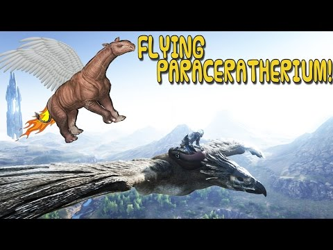 ARK:Survival Evolved XBOX ONE - FLYING PARACERATHERIUM! OFFICIAL SERVER! ( GLITCH )