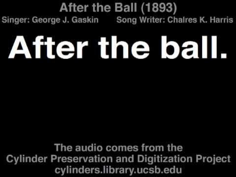 George J. Gaskin - After the Ball (1893) Chorus with Lyrics on the Screen