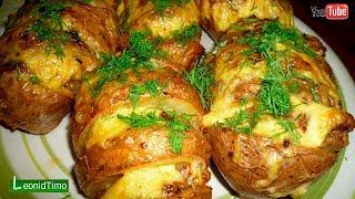 КАРТОШКА - гармошка в духовке. картошка гармошка с салом
