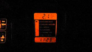 Omega CD 4.1 96/96 Consumo instantaneo em marcha lenta.