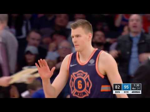Kristaps Porzingis, First in NBA History To Record 1 Block and 1 3-Pointer In 15 Straight Games