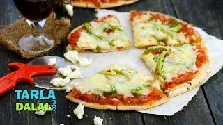 Quick Tomato Pizzas By Tarla Dalal