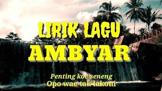 Gambar cover Lirik lagu AMBYAR - Xaluna [ Penting Koe Seneng ]