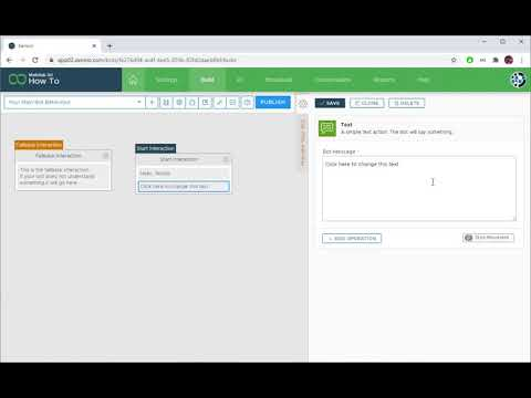 Xenioo: How to add a Text Bubble to your chatbot