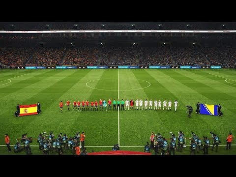 SPAIN VS BOSNIA AND HERZEGOVINA Friendly 2018 HD | All Goals Pes 2019 Gameplay PC