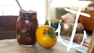 How to make Persimmon, Strawberry, Ginger Jam Recipe Bondi Harvest