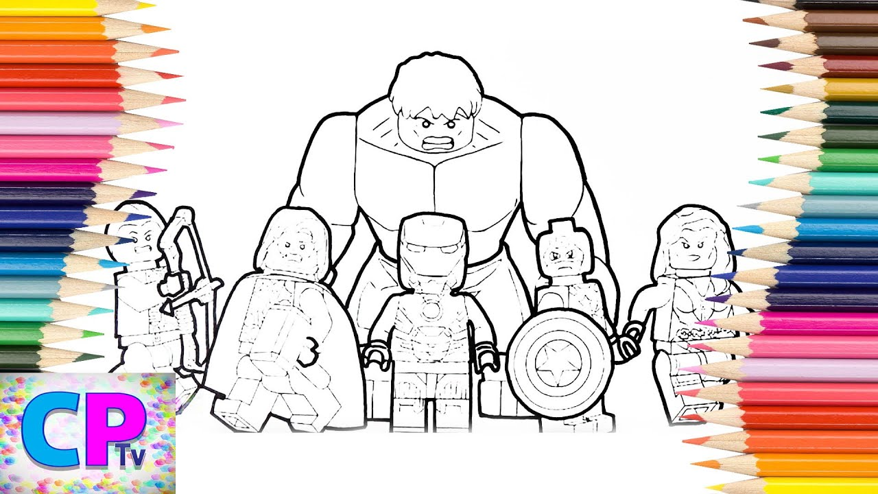 lego avengers coloring pages # 3