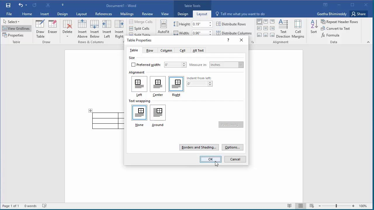 How to change orientation of a table in a page in word 2016 youtube how to change orientation of a table in a page in word 2016 ccuart Gallery