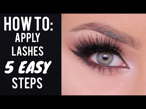 How To Apply False Lashes In Steps