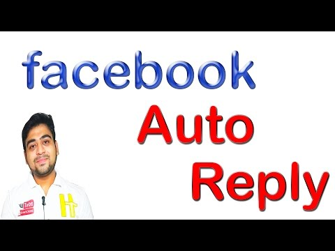 How To Set Auto Reply || Messages In Facebook Page || Hindi