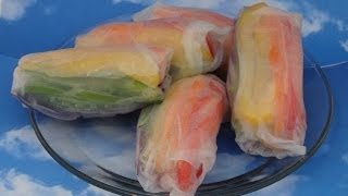 Rainbow Spring Rolls - With Yoyomax12