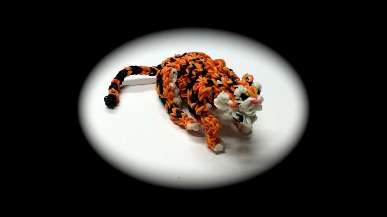 Rainbow Loom Tiger Adult Part 1 5 Youtube