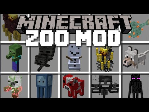 Thumbnail: Minecraft ZOO MOD / SPAWN AND BREED ANIMALS IN THE MINECRAFT ZOO!! Minecraft