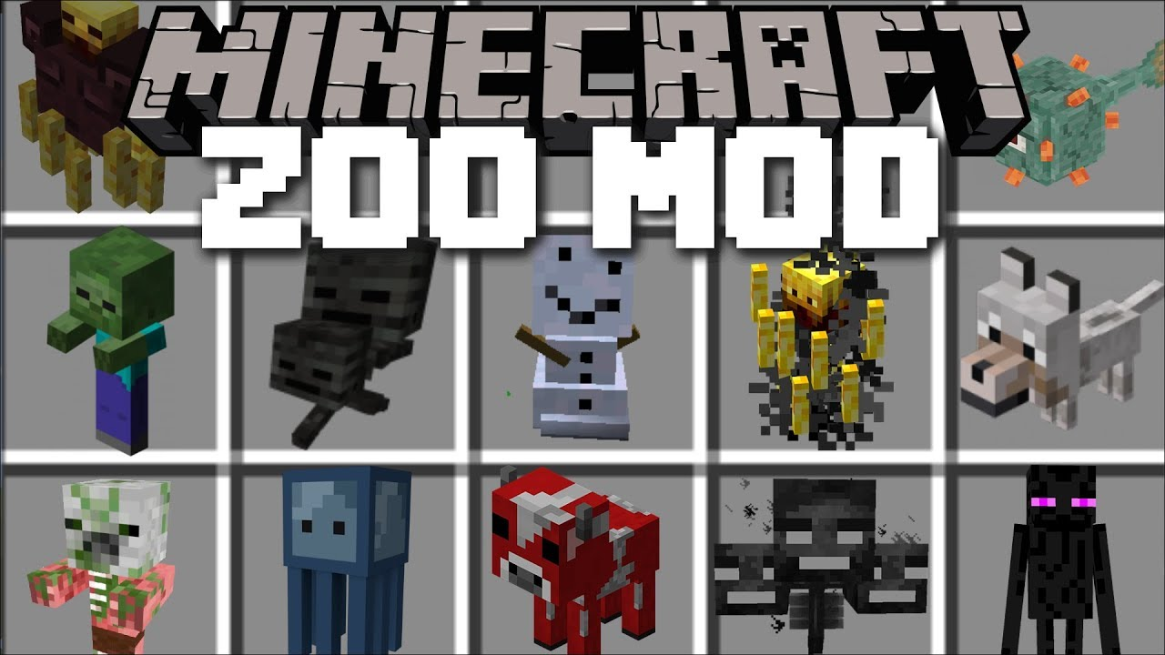 Minecraft ZOO MOD / SPAWN AND BREED ANIMALS IN THE MINECRAFT ZOO!! Minecraft