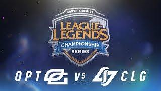 OPT vs. CLG - Week 4 Day 1   NA LCS Spring Split   OpTic Gaming vs. Counter Logic Gaming (2018)