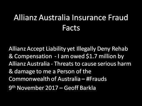 Allianz Australia & Workcover WA Insurance Fraud