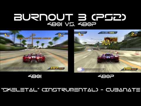 Burnout 3: Takedown (PS2) - 480i vs  480p