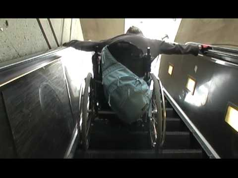 How To - Travel in a metro train and go down the escalator with a wheelchair
