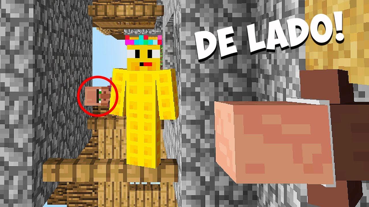 Minecraft pero TODO esta de LADO