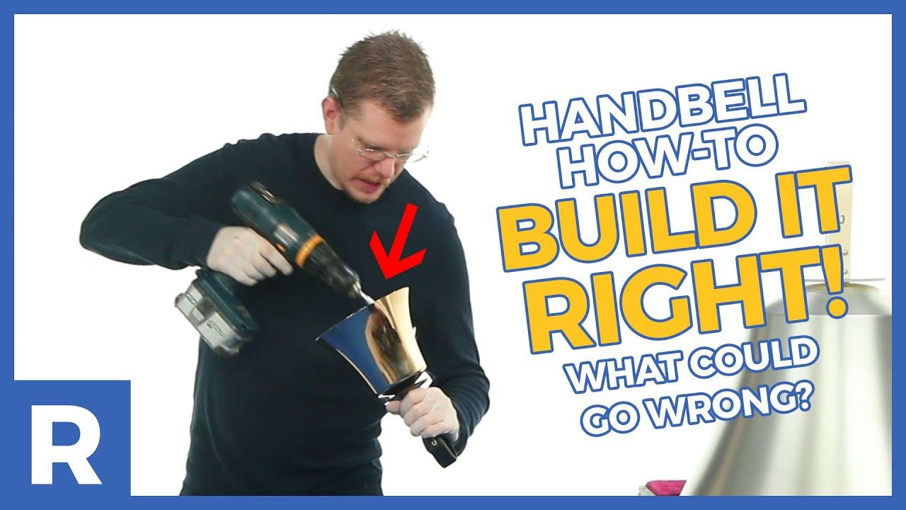 Daniel displays a fully disassembled Schulmerich C4 handbell.