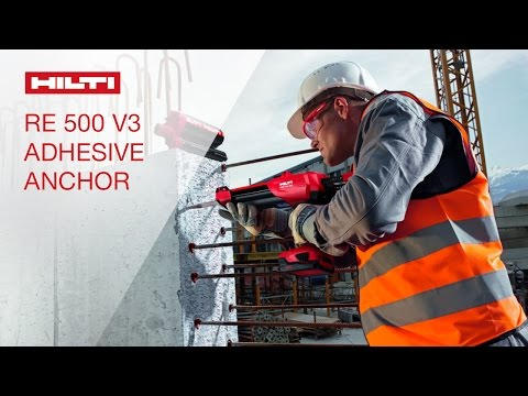 introducing the hilti hit re 500 v3 adhesive anchoring. Black Bedroom Furniture Sets. Home Design Ideas