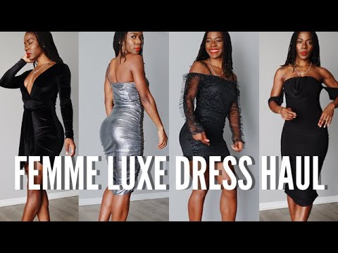 [VIDEO] - HOLIDAY PARTY DRESS TRY ON HAUL 2019 | FEMME LUXE FINERY HAUL 2019 | HOLIDAY OUTFITS 2019 1