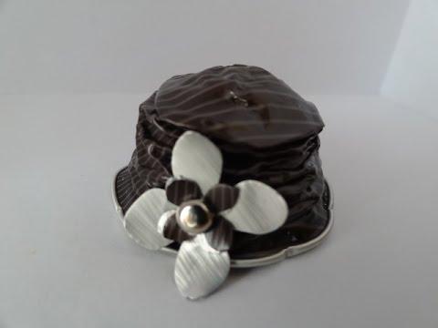 Diy coffee pod comment faire un chapeau nespresso pour - Objet fait avec des capsules nespresso ...