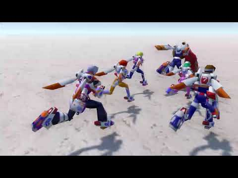 Burning Rangers tribute - Controlling all 6 rangers at the same time.