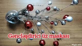 Омолаживающая маска для лица из гранатогово сока Nar suyundan gəncləşdirici üz maskası