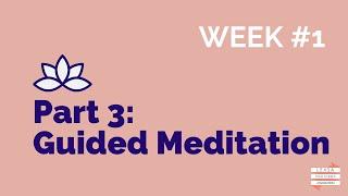 Online Wellbeing Workshop: #3 Guided Meditation