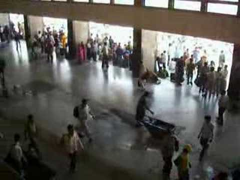Cleaning at New Delhi Train Station