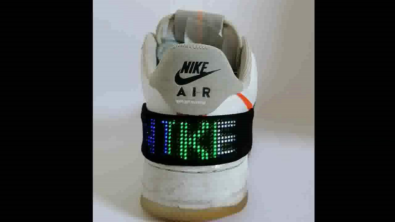 Customisable LED Nike air force 1 sneaker (Bluetooth LED) - YouTube