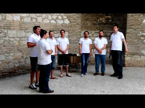 Acappella singing in Diocletian Palace of Split, Croatia