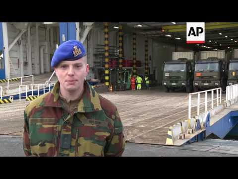 Belgian NATO troops arrive in Lithuania