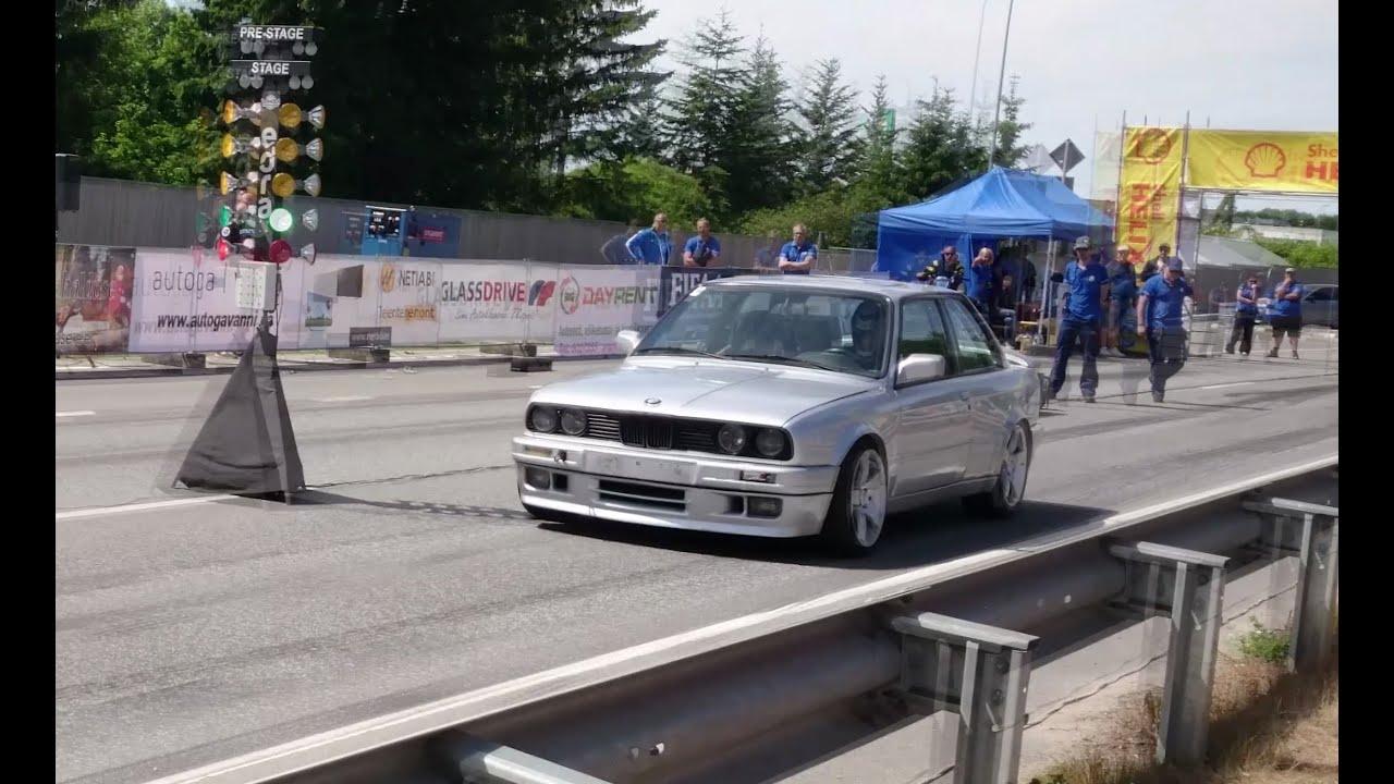 900HP BMW E30 325i MTech2 Widebody Turbo 18mile drag race  YouTube