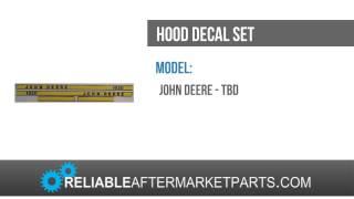 JD401 John Deere Tractor Hood Decal Set 1020