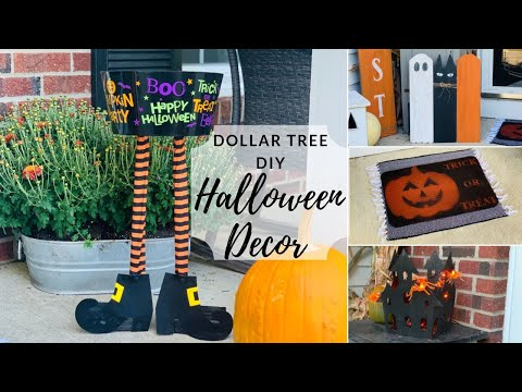 Dollar Tree DIY Fall Halloween Front Porch Decor