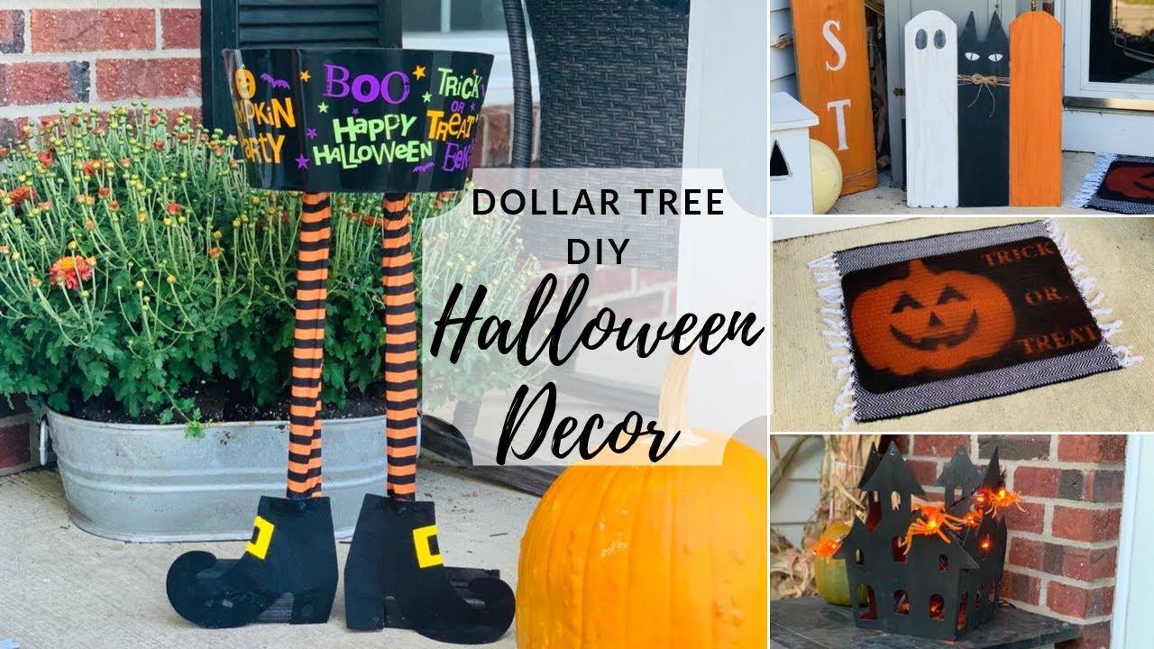 Dollar Tree Diy Fall Halloween Front Porch Decor Youtube