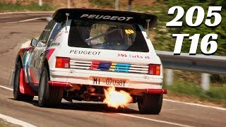 Peugeot 205 T16 Group B (1986) - On-Board Action, HUGE Exhaust Flames! - 2018 Vernasca Silver Flag