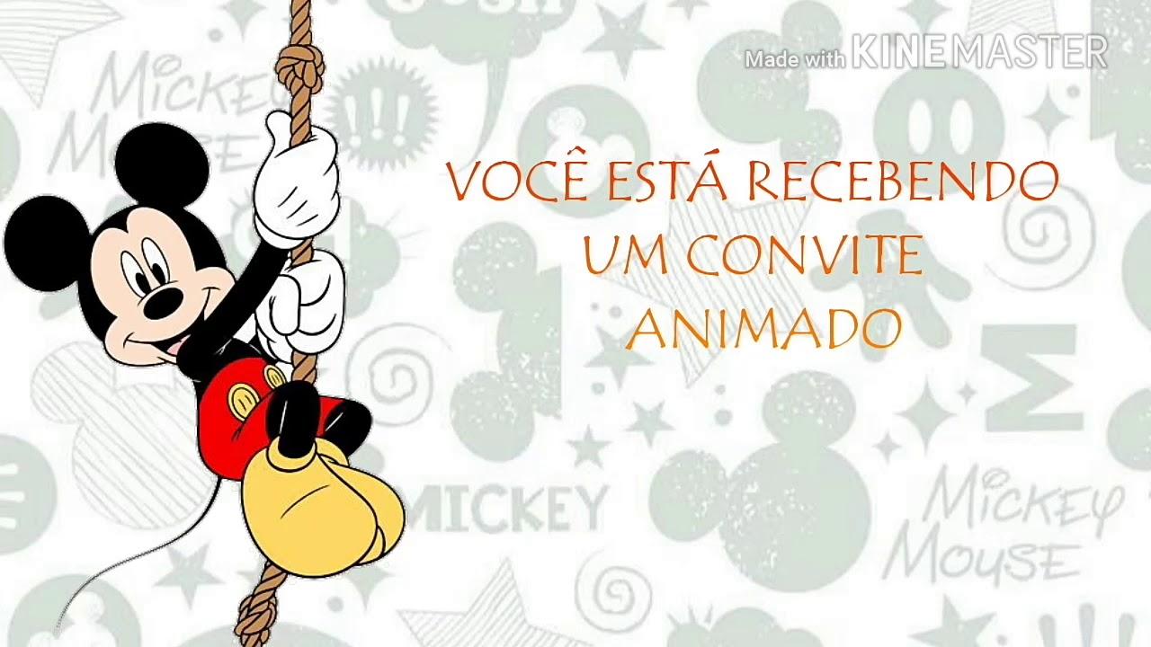 Convite Animado Mickey Mousepronto Para Baixar E Editar