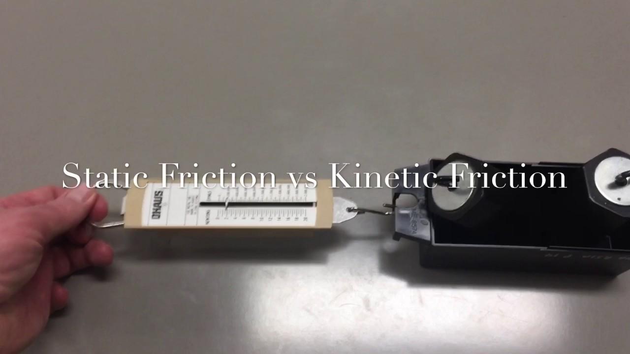 Static Friction vs Kinetic Friction