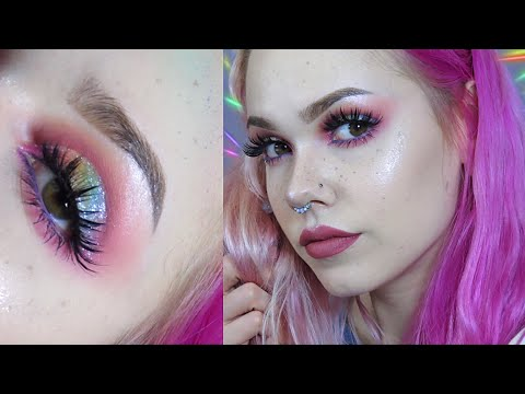 Glitter Rainbow Glam Makeup Tutorial 🌈 | BillieDawnWebb