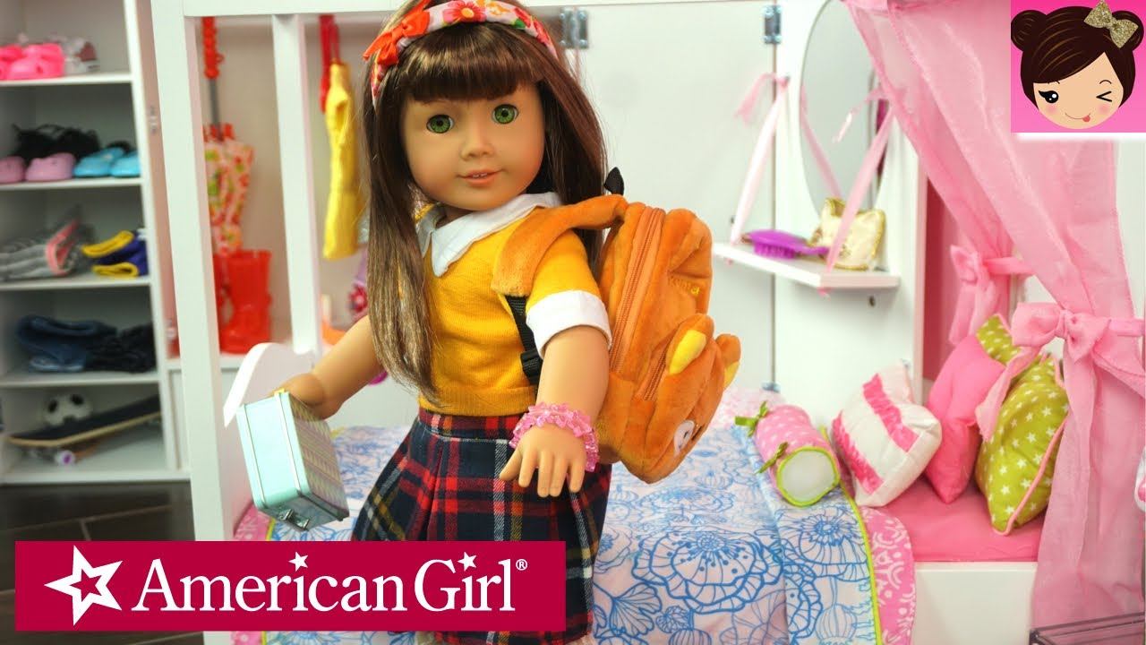 morning routine for my american girl doll play ag dolls bedroom closet toys for kids youtube. Black Bedroom Furniture Sets. Home Design Ideas