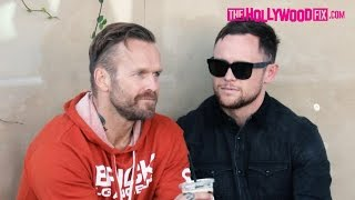 Bob Harper From The Biggest Loser Gets Touchy Feely With A Male Friend On Melrose Place 11.18.15