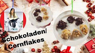 Schoko-Nuss-Cornflakeshäufchen mit Cranberries | Crossies selbstgemacht | ThermoMixenmitClaudia