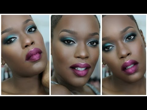 NEW! 2015 Colorful **FULL FACE** HOLIDAY Makeup for DARK SKIN thumbnail