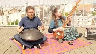 Pasha Aeon feat. Andreas Nothing - Handpan & Sitar Music, Banyan Om Space, HD 2017